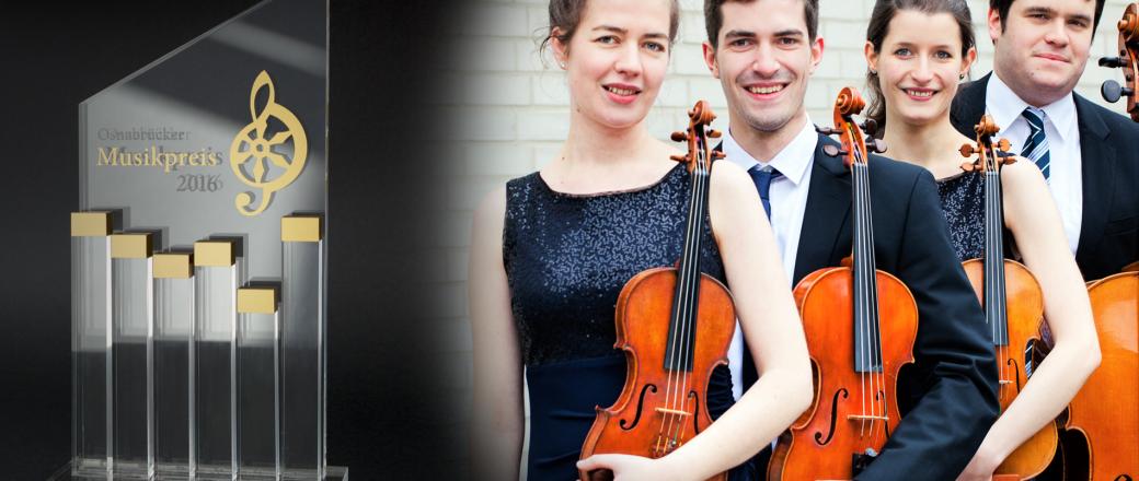 Aris Quartett gewinnt den Osnabrücker Musikpreis 2016