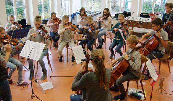 Osnabrücker Stadtstreicher proben für Konzertprogramm
